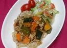 豚肉と夏野菜の粒マスタードソース焼き