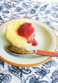 レンジ2分 簡単 ヨーグルト蒸しケーキ