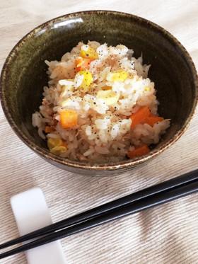 簡単☆ツナコーンマヨ炊き込みご飯