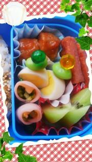 お弁当の隙間に☆うずらの卵と枝豆の写真