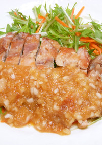 パリパリ鶏と玉ねぎポン酢