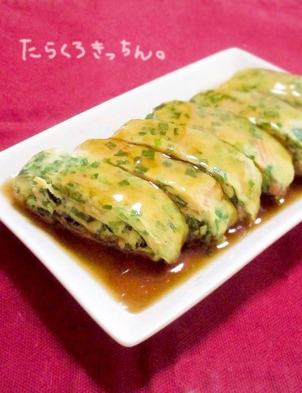 ニラ卵焼き❀醤油あん