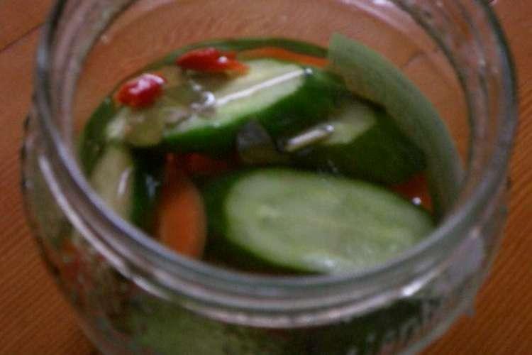 レシピ きゅうり の ピクルス お漬物レシピ:きゅうりのピクルスの作り方【漬けるドットコム】
