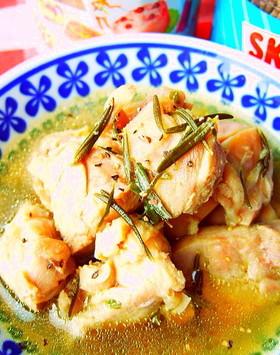 糖質制限◆冷凍鶏もも解凍しながらハーブ煮