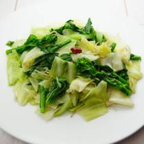 3種の青菜炒め