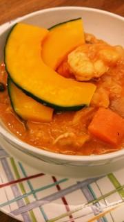 濃厚‼トマトとエビの食べるスープの写真