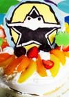 ニンニンジャーの簡単誕生日キャラケーキ