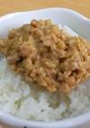 味噌納豆ごはん