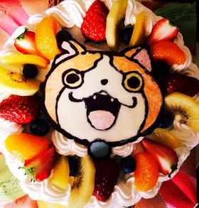 妖怪ウォッチジバニャン誕生日ケーキ