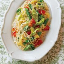 キャベツサラダスパゲッティ