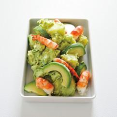 えびとアボカドのグリーンポテトサラダ