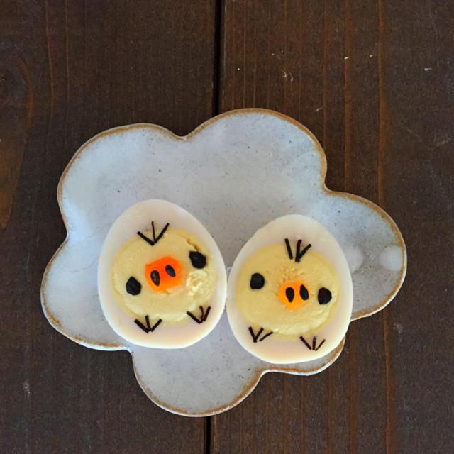 キャラ弁*うずらの卵でキイロイトリ