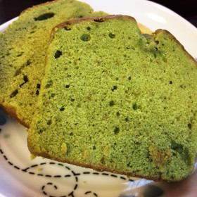 簡単美味しい☆抹茶香るブランデーケーキ