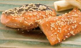 銀鮭のごま照り焼き