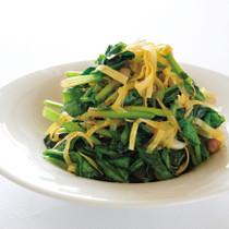ほうれん草と玉ねぎの健康サラダ