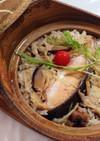 極美味土鍋飯☆ピンクサーモンと揚げ干椎茸