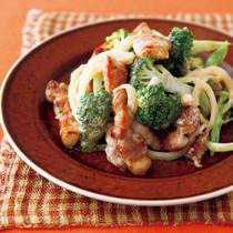 豚肉とブロッコリーの中華風しょうゆ炒めマヨマスタード炒め