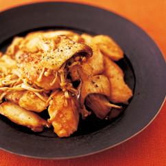 鮭ときのこの中華風しょうゆ炒め
