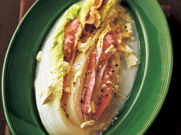 白菜とハムのチーズ重ね蒸し