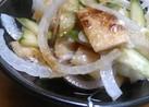 たまねぎと油揚げの柚子胡椒サラダ
