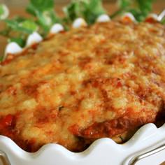 味噌ボロネーゼで茄子のラザニア