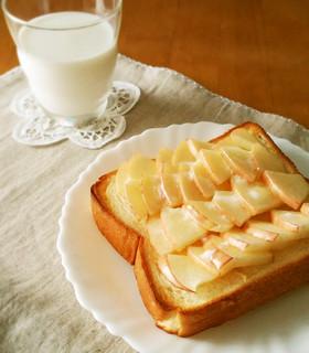 便秘解消に☆リンゴとオリゴ糖でトースト