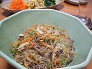 チャプチェ(牛肉と春雨の韓国風炒め)の写真