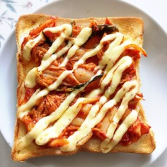 簡単‼︎子どもも作れるキムチトースト
