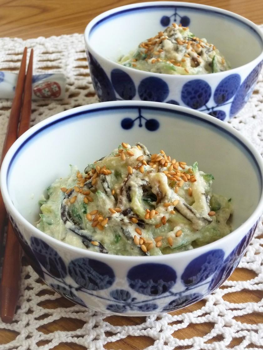 ✜胡瓜と塩こんぶの白和え✜和サラダ風
