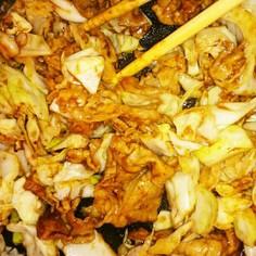 キャベツと豚肉の味噌炒め