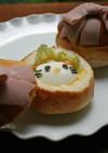 キャラ弁☆キティちゃんのびっくり箱パン