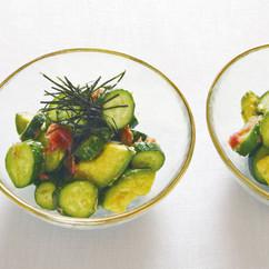 アボカドと梅干しの和風サラダ