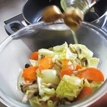 蒸し野菜の簡単マリネサラダ
