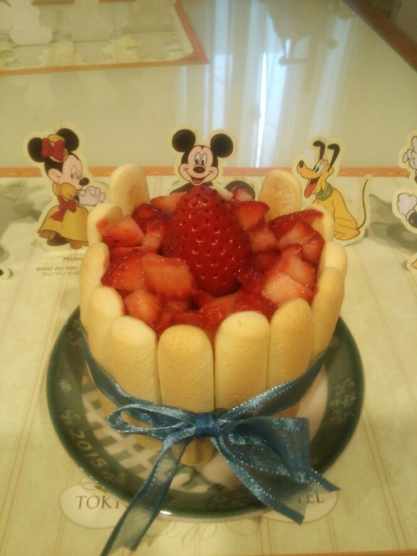 1歳☆苺の誕生日ケーキ