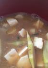 根曲がり竹のお味噌汁