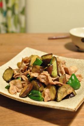 夏野菜と豚肉のだし炒め