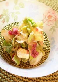 キャベツの梅マヨチーズサラダ