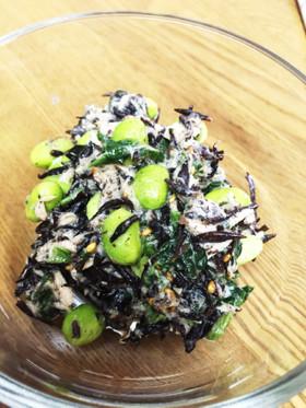 ほうれん草とひじきの簡単サラダ