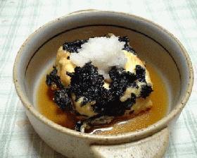 揚げだし豆腐海苔風味