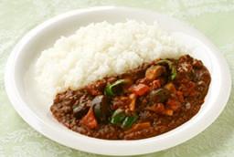 夏野菜とひき肉のスピードカレー