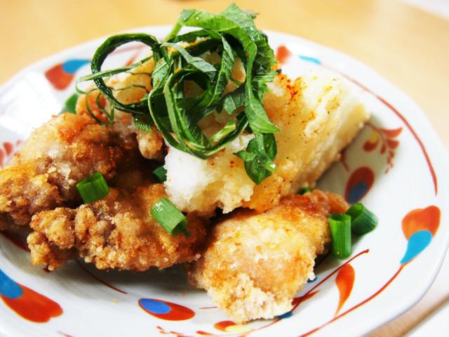 鶏とお餅の揚げ出し さっぱりおろしポン酢