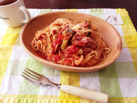 簡単!炊飯器でトマトパスタ♡