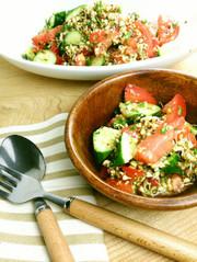 蕎麦の実スプライトのヘンプde夏サラダの写真