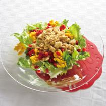 高野豆腐と炒り卵のサラダ