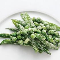 さやえんどうとさやいんげん、グリーンピースのサラダ