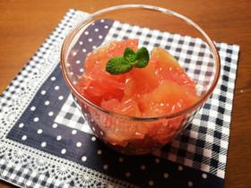 ダイエット簡単おやつグレープフルーツ寒天