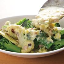 ブロッコリー&カリフラワーの卵あんかけサラダ