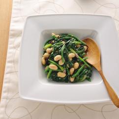 ほうれん草と大豆と塩昆布のサラダ