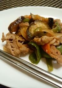 茄子と豚の味噌炒め☆焼き肉風味