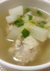 鶏手羽元と大根と山芋のあっさり中華スープ